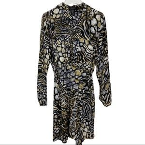 MM Couture By Miss Me Animal Print Tie Waist Dress